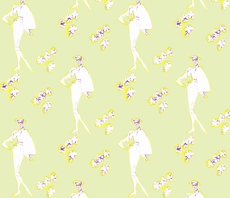 Glasses Make the Girl fabric by bettieblue_designs on Spoonflower - custom fabric