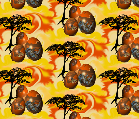 African_Painted_Eggs by Sylvie fabric by house_of_heasman on Spoonflower - custom fabric