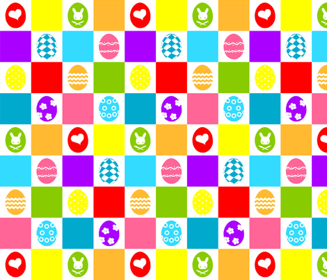 Checkerboard Eggs fabric by rosaleendhu on Spoonflower - custom fabric