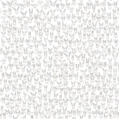 Bunny Pile (white)