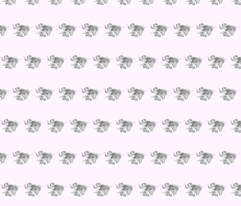 elephants fabric by huebscheladys on Spoonflower - custom fabric