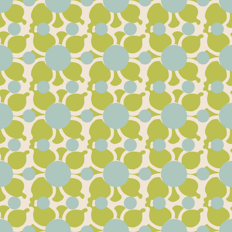 Bubble Flower Green fabric by kathyjuriss on Spoonflower - custom fabric