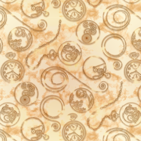 Pocketwatch--sepia fabric by artgarage on Spoonflower - custom fabric
