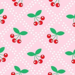 Summer Cottage - Cherries on Pink