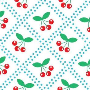 Summer Cottage - Cherries on White