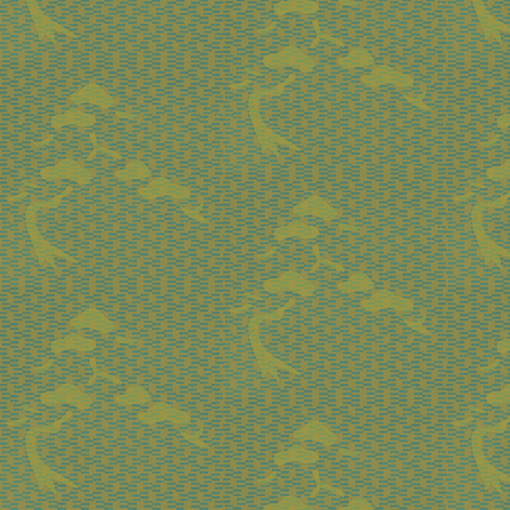 bonsai - blue/green fabric by materialsgirl on Spoonflower - custom fabric