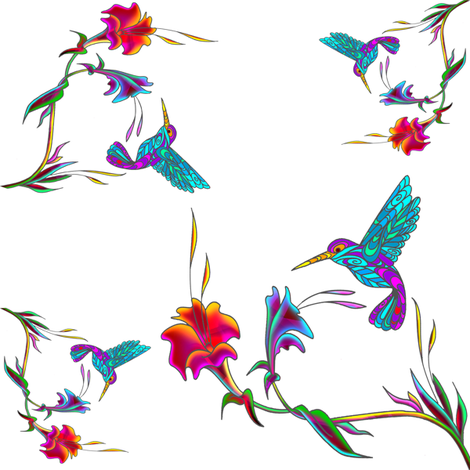 hummingbird lattice fabric by krs_expressions on Spoonflower - custom fabric