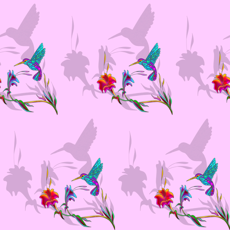 hummingbird shadows fabric by krs_expressions on Spoonflower - custom fabric