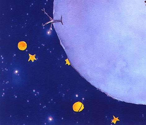 Petit Prince Night Wallpaper Pigola Spoonflower