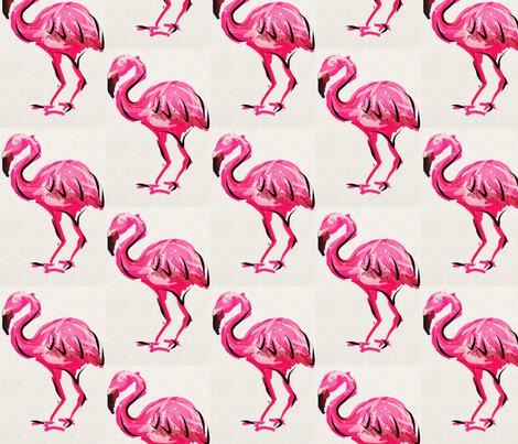 Flamingo fabric by jenny_jackson@hotmail_com on Spoonflower - custom fabric