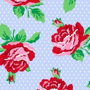 Roses on Lavender
