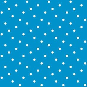 Summer Cottage - Blue Dots