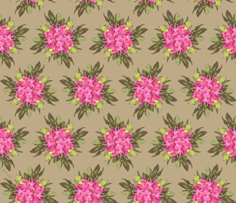 Rhododendron  fabric by the_design_house on Spoonflower - custom fabric