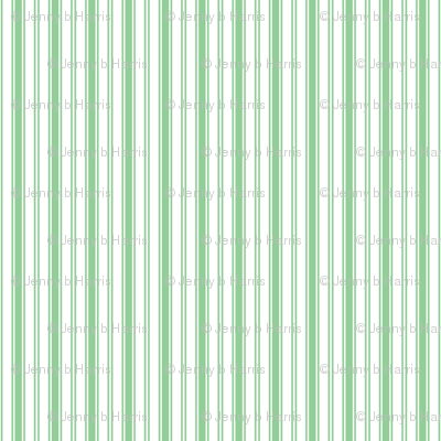 Summer Cottage - Green Country Stripe
