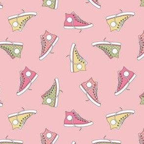 Pink converse shoe