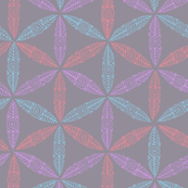 Pysanky triangles in grey
