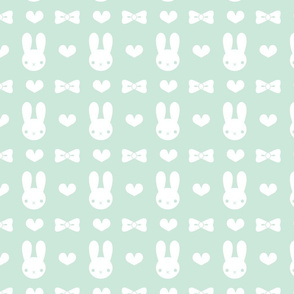 Pretty Bunny Pattern-Mint