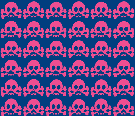Spunky skulls fabric by mezzime on Spoonflower - custom fabric