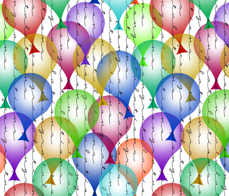 congratulations balloons fabric by weavingmajor on Spoonflower - custom fabric