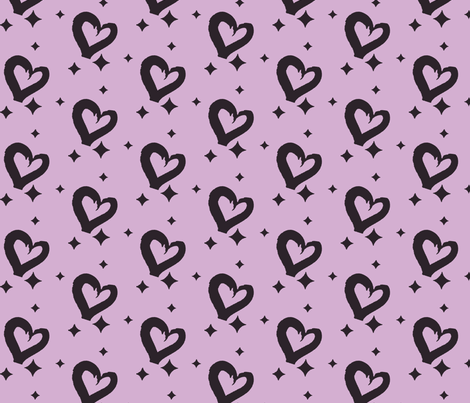 Purple Hearts fabric by mezzime on Spoonflower - custom fabric
