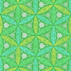 pysanky floral in green