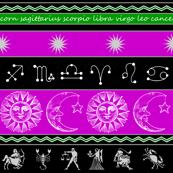 zodiac stripes - purple