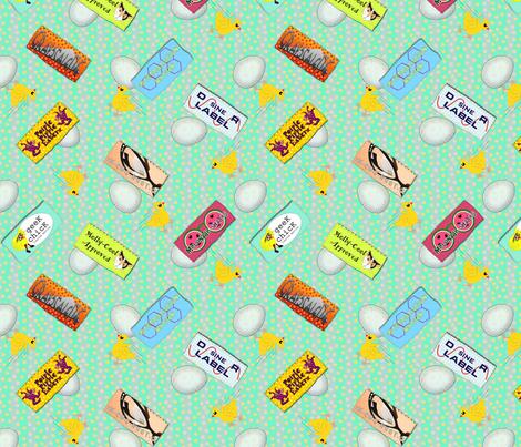 Geek Chicks Designer Labels  fabric by glimmericks on Spoonflower - custom fabric