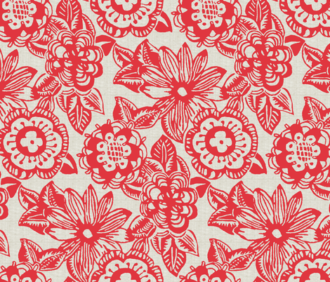 Big Blossoms fabric by littlerhodydesign on Spoonflower - custom fabric