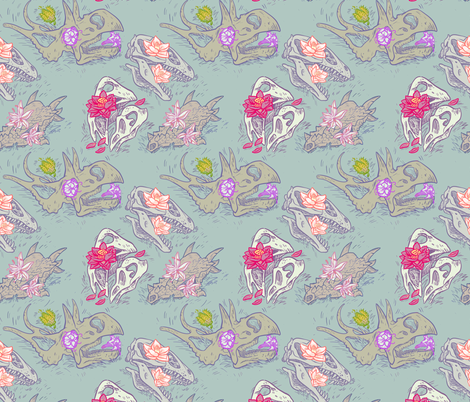 skullz fabric by chelseacanny on Spoonflower - custom fabric