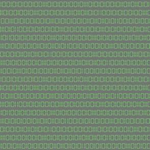 Robot Binary (Green & Gray)