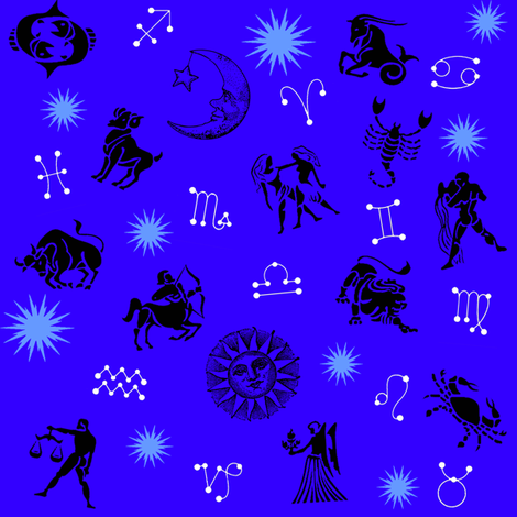 zodiac blue fabric by krs_expressions on Spoonflower - custom fabric