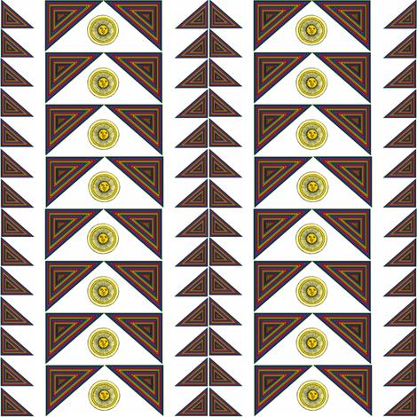 Rainbow Triangles in the Sun fabric by ravynscache on Spoonflower - custom fabric