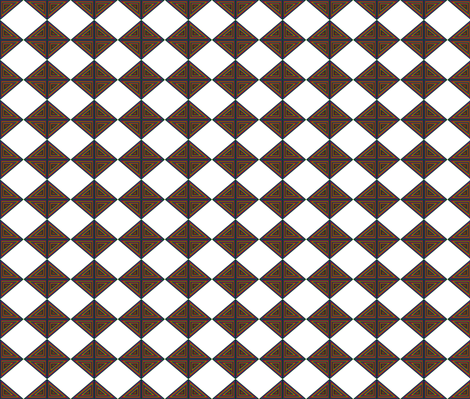 Checkerboard Rainbow fabric by ravynscache on Spoonflower - custom fabric