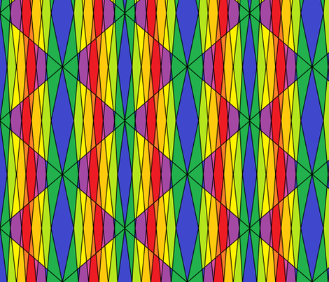 Stained Glass Rainbow fabric by ravynscache on Spoonflower - custom fabric