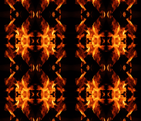Fire dance fabric by studiogala on Spoonflower - custom fabric