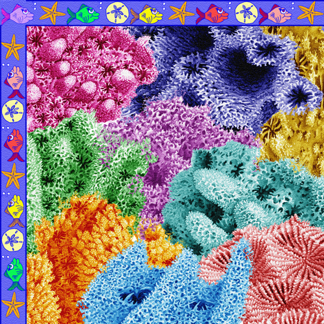 coral reef - small fabric by krs_expressions on Spoonflower - custom fabric