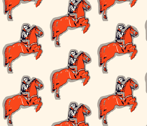 Rootin Tootin Fun -red gray fabric by bettieblue_designs on Spoonflower - custom fabric