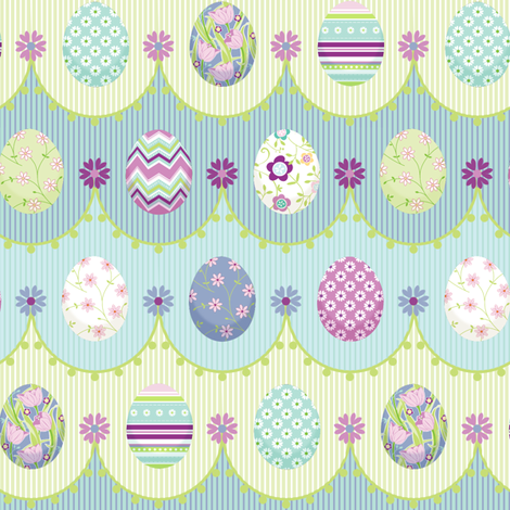 Painted_Eggs fabric by jillbyers on Spoonflower - custom fabric