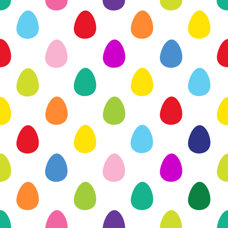 Mini Eggs White fabric by spellstone on Spoonflower - custom fabric