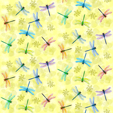 dragonflies  fabric by krs_expressions on Spoonflower - custom fabric
