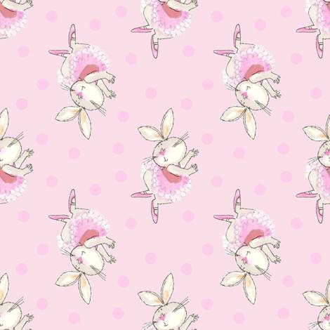 Ballet Bunny Pink Tutu Frou Frou Paris Bebe fabric by parisbebe on Spoonflower - custom fabric