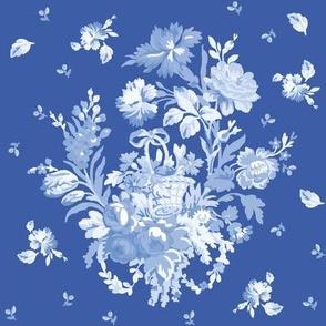 ROSE BASKET in Blueberry Blue