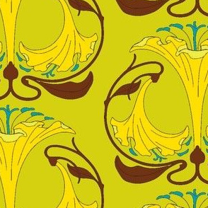Art Nouveau30-green/yellow