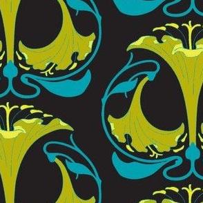 Art Nouveau30-green/black