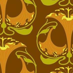 Art Nouveau30-orange/brown