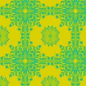 Art Nouveau61-green/teal