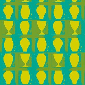 yellow urns
