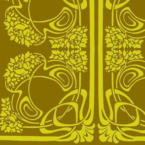 Art Nouveau19-green/brown