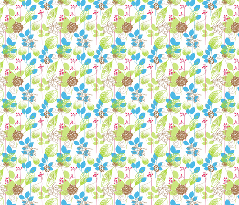 The beauty of nature fabric by mezzime on Spoonflower - custom fabric