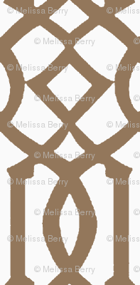 Imperial Trellis-Light Brown/White-Reverse-Large